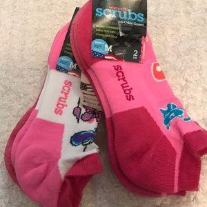 4 pairs SCRUBS socks cushy sole odor guard